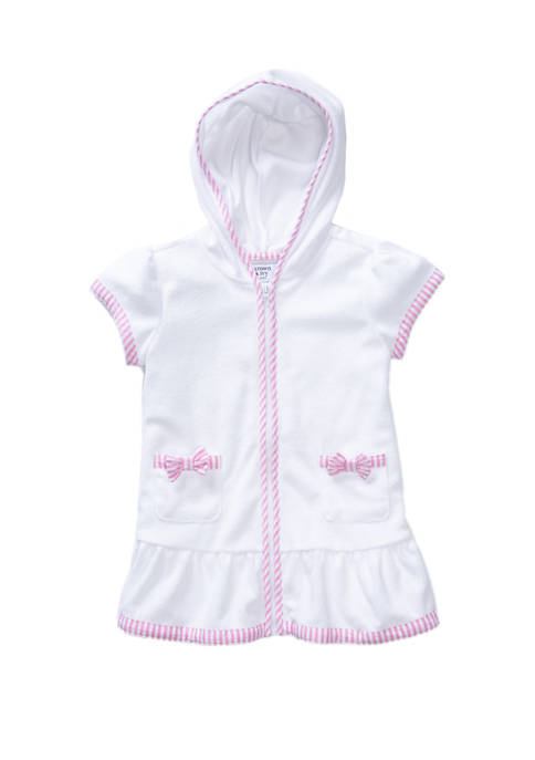 Girls 4-6x Cotton French Terry Swim Cover Up