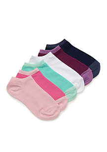 Toddler Girls Solid No-Show Sock Set