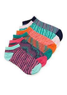 Toddler Girls Spacedye No-Show Sock Set