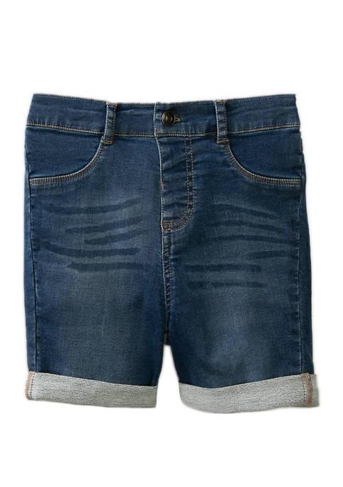 Lightning Bug Girls 4-6x Denim Midi Shorts