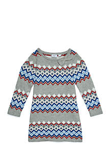Girls 4-6x Sweater Dress with Bow