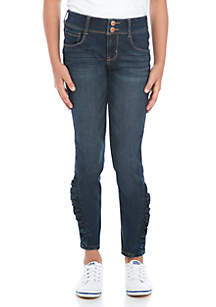 Crown & Ivy™ Girls 7-16 Side Ruffle Ankle Skinny Jeans