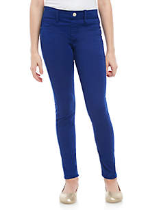 Crown & Ivy™ Girls 7-16 Air Navy 5 Pocket Knit Pull On Jeggings