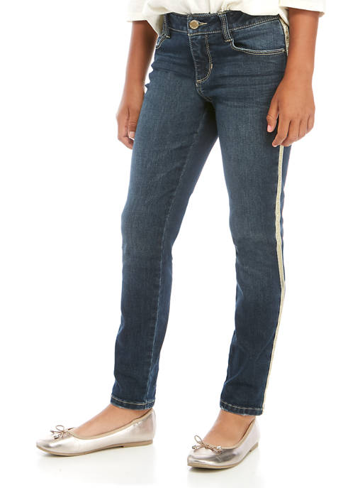 Girls 7-16 Sparkle Taping Jeans