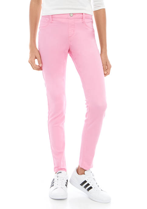 Crown & Ivy™ Girls 7-16 Colored Skinny Jeans