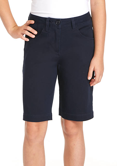 J. Khaki® Uniforms Girls 7-16 Bermuda Shorts