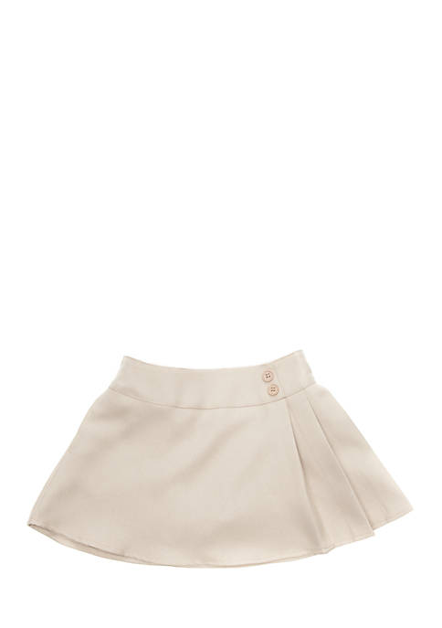 Girls 4-6x Large Pleated Scooter Skirt