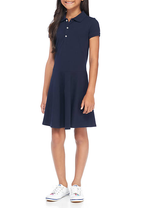 J. Khaki® Uniforms Girls 7-16 Short Sleeve Pique