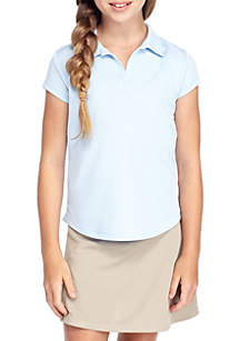 J. Khaki® Uniforms Uniform Short Sleeve Active Polo Girls 7-16