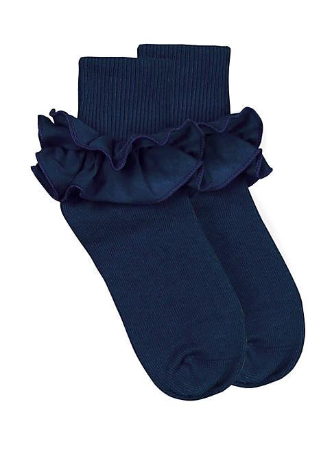 Girls Misty Ruffle Turn Cuff Socks