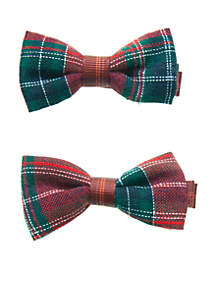 Crown & Ivy™ Girls 4-8 Set of 2 Clip Bows