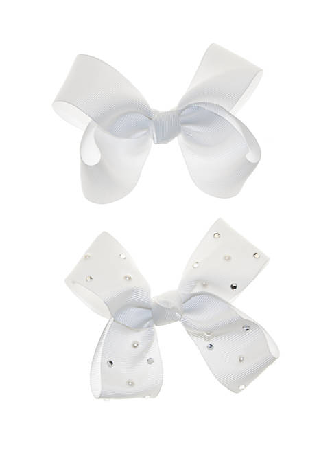 Crown & Ivy™ Studded Satin Bows