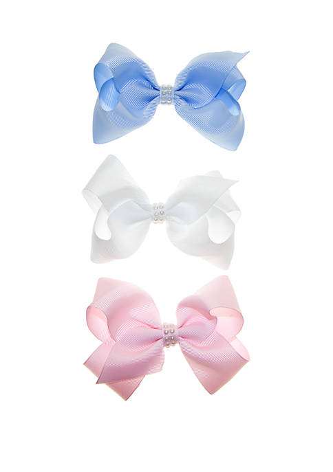 Crown & Ivy™ Girls Trio Bow Set with