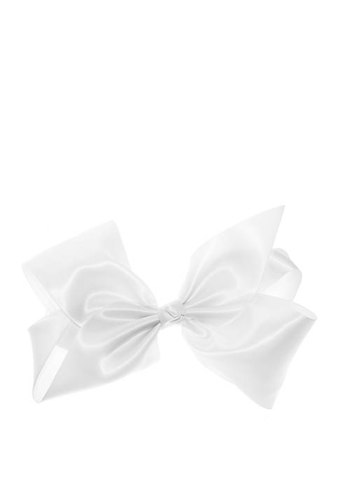 Girls Textured Satin 3 Layer Bow