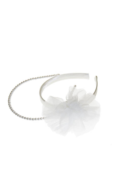 Crown & Ivy™ Girls Pearl Flower Headband Set