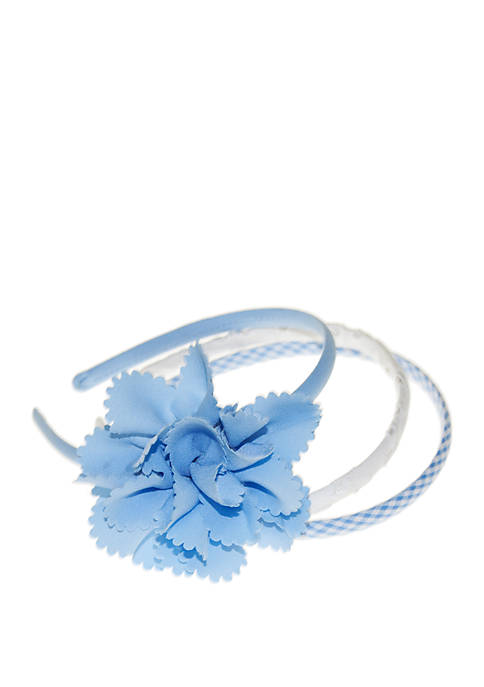 Girls Blue Headband Set