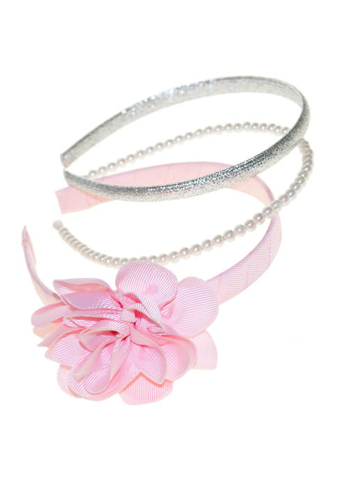 Crown & Ivy™ Girls Set of 3 Headbands