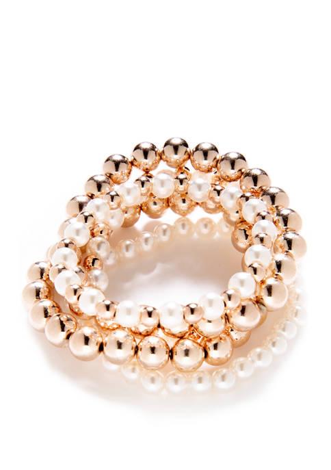 Crown & Ivy™ Girls Pearl Bracelet Set