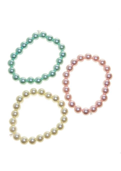 Girls Chunky Pearl Bracelet