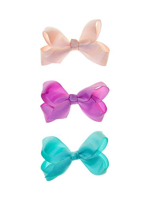 Girls 4-16 3 Piece Bow Set
