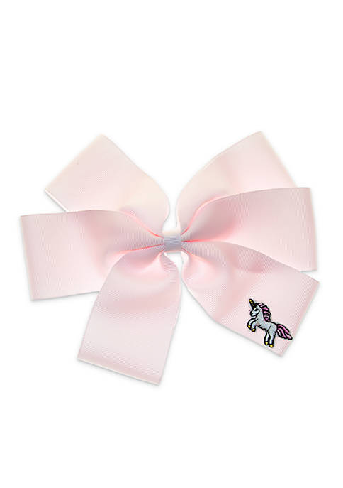 Lightning Bug Girls Jumbo Unicorn Hair Bow