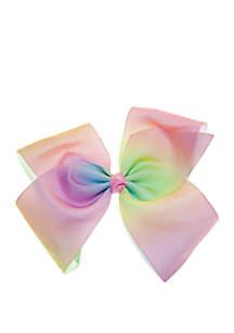 Lightning Bug Girls Rainbow Heart Jumbo Bow
