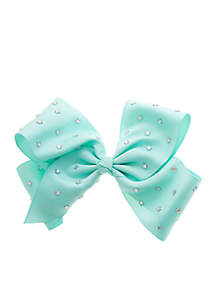 Jumbo Bow with Star Studs