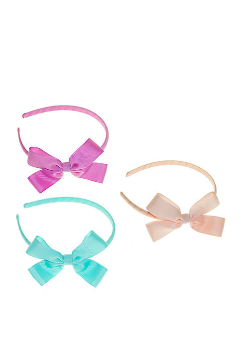 Lightning Bug Girls Bow Headband Set