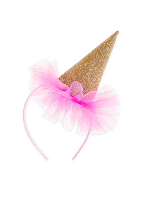Lightning Bug Girls Birthday Hat Pouf Headband