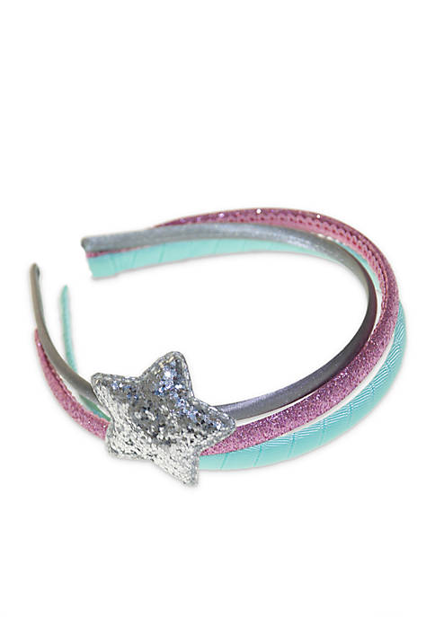 Lightning Bug Girls Set of 3 Star Headbands