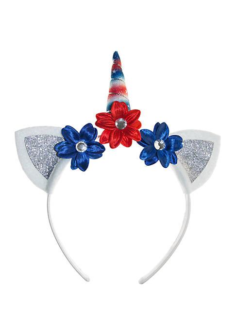 Lightning Bug Girls Unicorn Headband