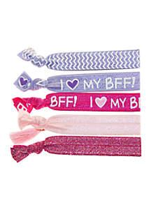 Set of 5 BFF Yoga Hair Ties