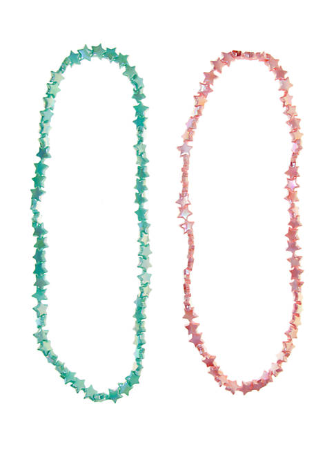 Lightning Bug Girls Plastic Star Necklace Set