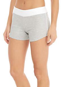 Girls 7-16 Gray Heather Knit Shorts