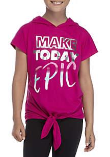 Girls 7-16 Short Sleeve Epic Hood Tee