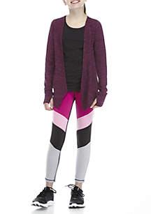 Girls 7-16 Purple Cozy Colorblock Legging Set