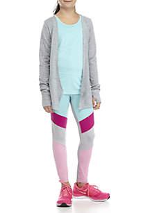 Girls 7-16 Aqua Cozy Colorblock Legging Set