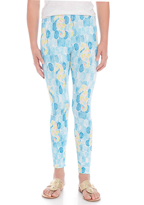 Crown & Ivy™ Girls 7-16 Seahorse Print Leggings