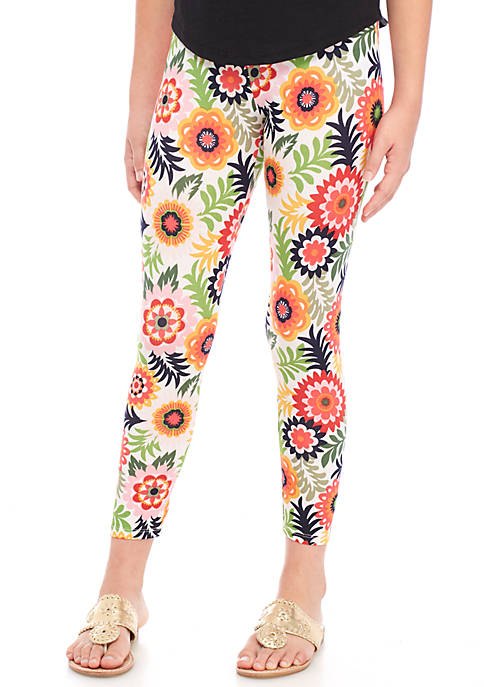 Crown & Ivy™ Girls 7-16 Multi Floral Leggings