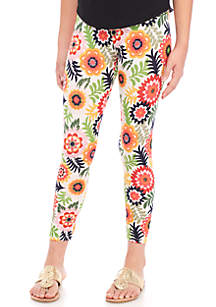 Girls 7-16 Multi Floral Leggings
