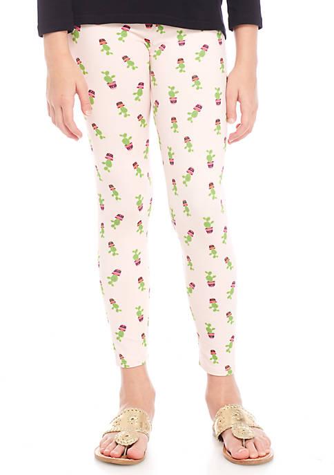 Crown & Ivy™ Girls 7-16 Cactus Print Leggings