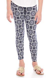 Girls 7-16 Medallion Print Leggings