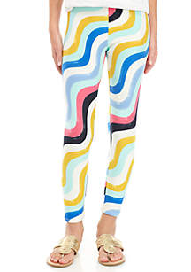 Girls 7-16 Swirl Print Leggings