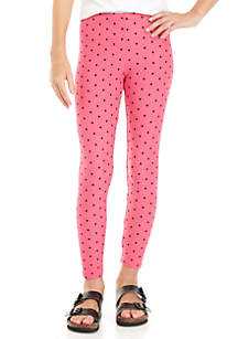 Girls 7-16 Small Dot Leggings