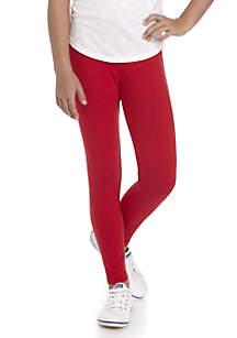 Girls 7-16 Solid Red Leggings