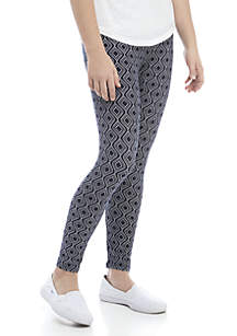 Crown & Ivy™ Girls 7-16 Navy Lattice Leggings
