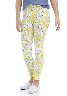 Crown & Ivy™ Girls 7-16 Lemon Print Leggings