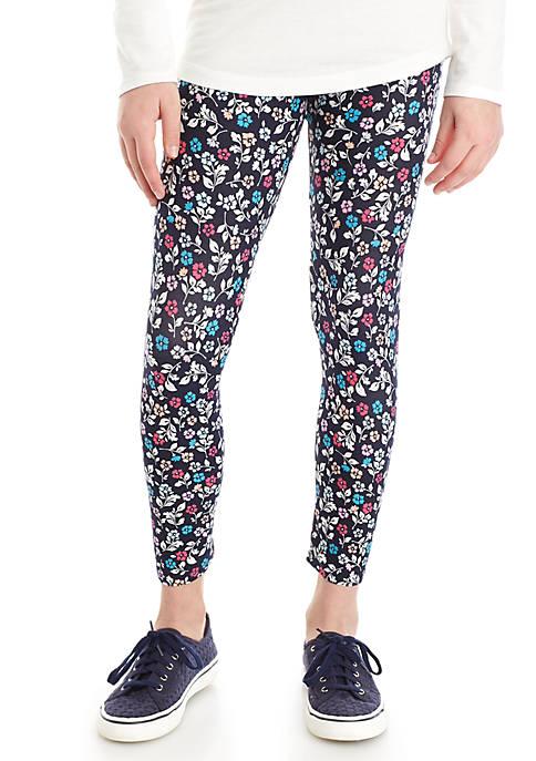 Crown & Ivy™ Girls 7-16 Allover Floral Leggings