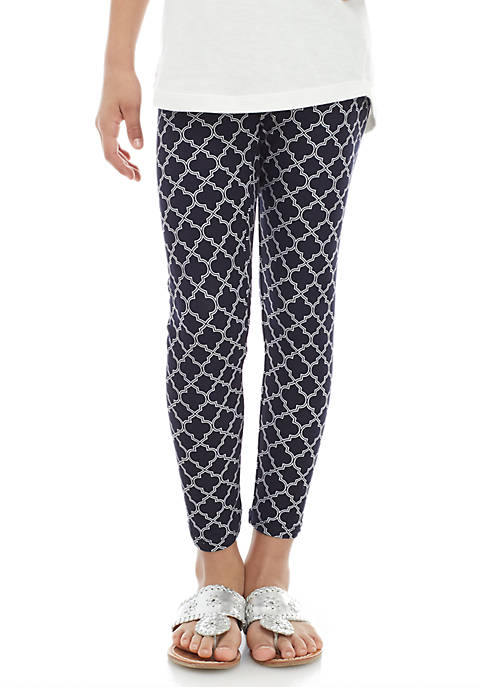 Crown & Ivy™ Girls 7-16 Black Lattice Leggings