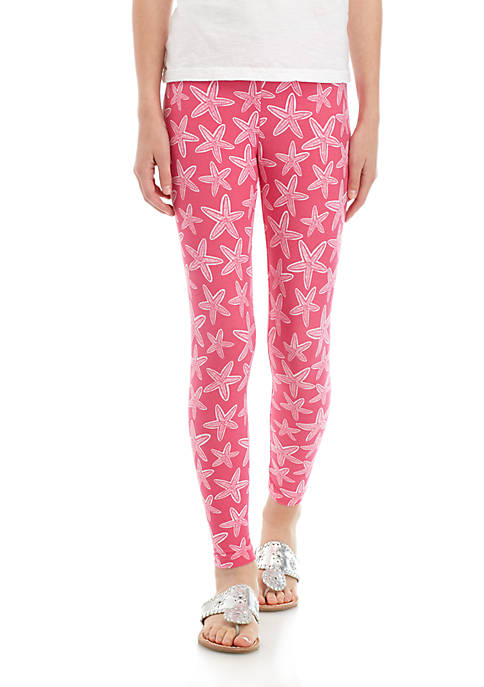Crown & Ivy™ Girls 7-16 Pink Starfish Leggings
